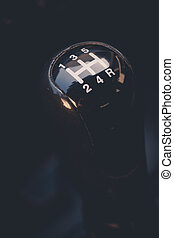 Car gear shifter - Close up shot of a car's gear shifter.