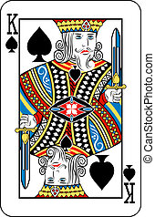 king of spades - King of Spades playing card