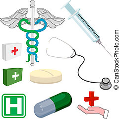Medical objects or icons