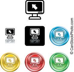 computer monitor icon symbol