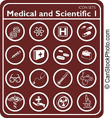 Medical icon set - Medical and scientific icons