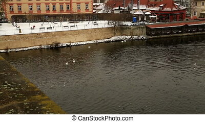 View at The Prague In Winter - View of Historical Prague...