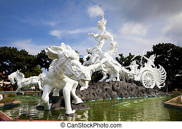 Satria Gatotkaca Statue, Bali, Indonesia - Image of the...