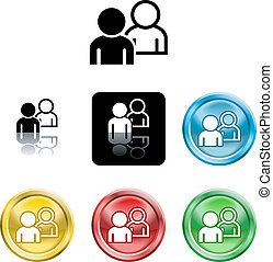 people networking icon symbol - Several versions of an icon...