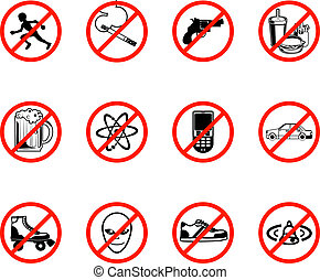 No Icons - A series set of icons all outlining things that...