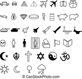 Demographic symbol icons - Symbols like those comonly used...