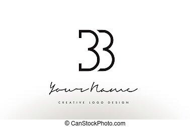 BB Letters Logo Design Slim. Creative Simple Black Letter...