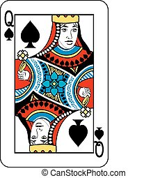 queen of spades - Queen of Spades playing card