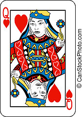 queen of hearts - Queen of Hearts playing card