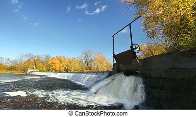 Sluice Gate Waterfall Loop - Loop features water splashing...