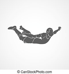 soccer player celebrating - Silhouette soccer player happy...