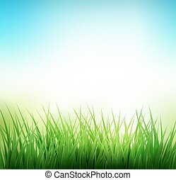 Natural green grass background. Vector illustration. EPS 10