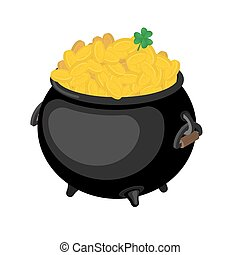 Gold leprechaun. St. Patrick's Day national holiday in...