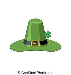 Leprechaun Green hat isolated. St. Patrick's Day national...