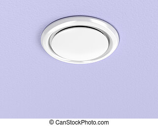 Air vent on the ceiling - Round air vent on the purple...
