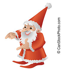 Cool Cute Father Christmas Character - An illustration of a...