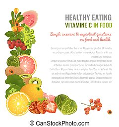 Vitamin C Image - Vitamin C food sources. Healthy eating...