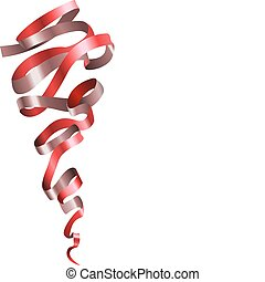 pretty shiny curly ribbon scroll - A vector illustration of...