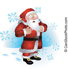 Santa clause illustration - An illustration of Santa clause...