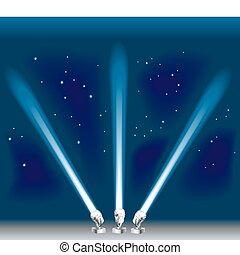 searchlight illustration - Some search/ spotlights. Shading...