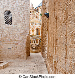 Church of Dormition on Mount Zion in Jerusalem
