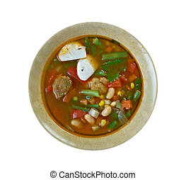 Locro - national dishes of Argentina, Bolivia, Peru and...