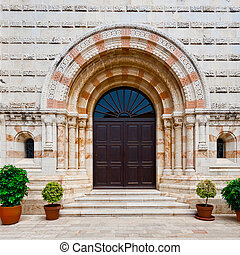 Portal of the Church of Dormition on Mount Zion in Jerusalem