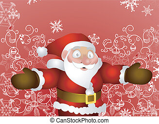 Father Christmas - Illustration of Santa with christmas...