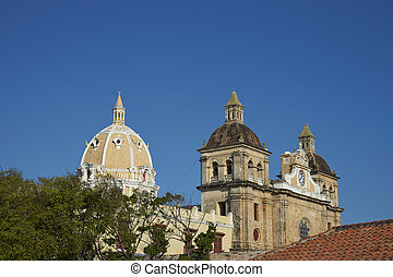 Iglesia de San Pedro Claver - Towers and dome of the...