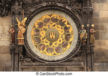 Medieval astronomical clock - Very famous Prague Astronomic...