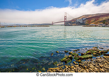 Golden Gate Bridge Sausalito - Landscape of Golden Gate...