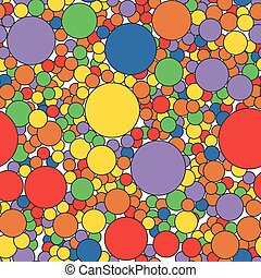Color dots abstract background. Vector illustration. Rounds decoration backdrop.