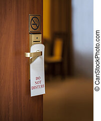 do not disturb sign hanging