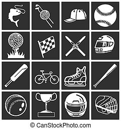 sports icon set - A set of sports icons design elements...