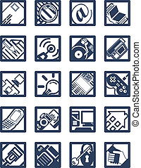 Square Internet Computing Icons