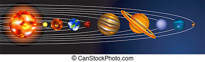 solar system illustration - an illustration of our solar...