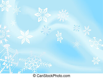 snowflakes background - a winter background with snowflakes...