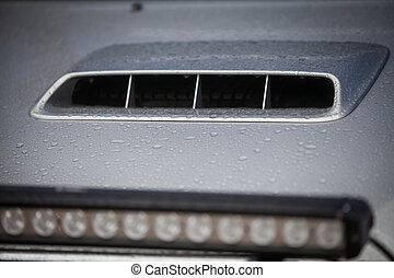 Car air vent - Close up shot of a car's air vents on the...