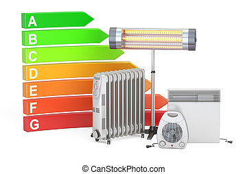 Saving energy consumption concept. Energy efficiency chart...