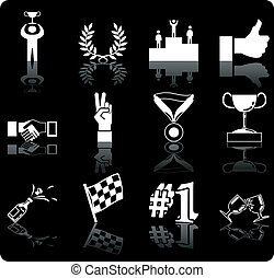 success icons - A conceptual icon set relating to victory...