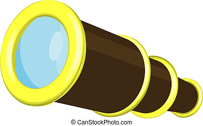 Telescope Illustration - An illustration of a telescope