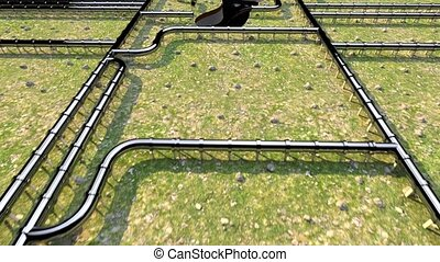 Carbon footprint oil pipeline pipe line foot print oil...