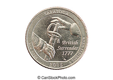 Saratoga Quarter Coin - Saratoga commemorative quarter coin...