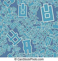 A seamless pattern. Abstract letters background. Vector illustration. Decorative symbols backdrop.