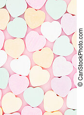Old fashion candy heart background - Old fashion pale multi...