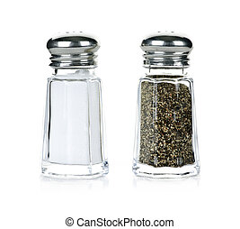 Salt and pepper shakers - Glass salt and pepper shakers...