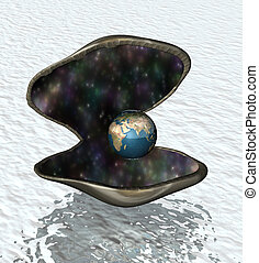 the world is your oyster - Oyster shell opening up to reveal...