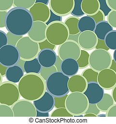 Green blue circles seamless pattern. Abstract decorative background. Vector illustration.