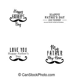 Happy father Day - Abstract father day labels on a white...