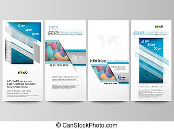 Flyers set, modern banners. Business templates. Cover...